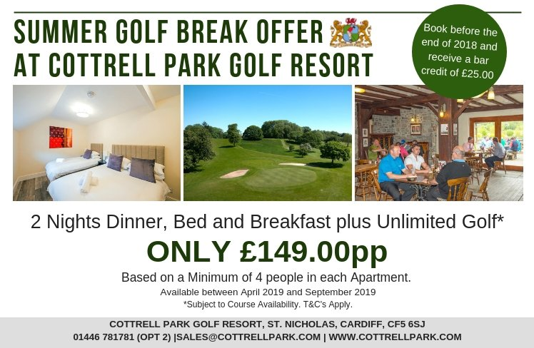 test Twitter Media - Are you dreaming of Summer? ☀️  Book your Summer 2019 Golf break with us at Cottrell Park Golf Resort and have a 'hole' lot to look forward to🏌️♀️  To book/enquire about availability; T: 01446 781781 Option2 E: sales@cottrellpark.com . . #golf #summer #holeinone #cottrellpark https://t.co/WnZmFz4K9H