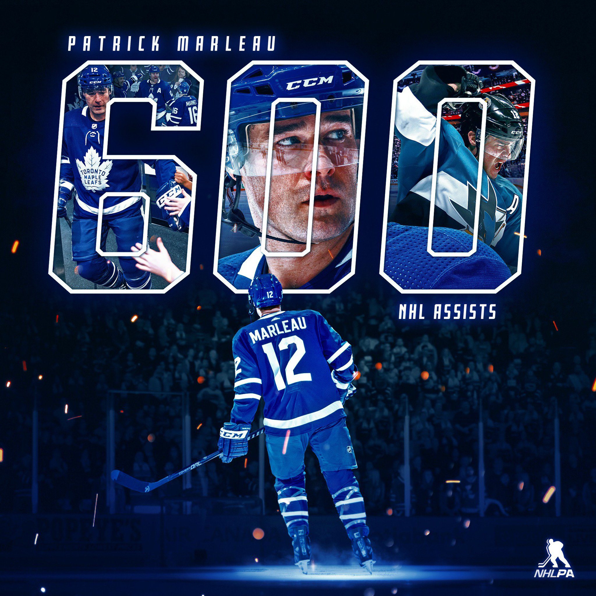 🍎 Another helping hand from Patrick Marleau in last night's @MapleLeafs win – his 600th to be exact! https://t.co/eJA6dDFHQi