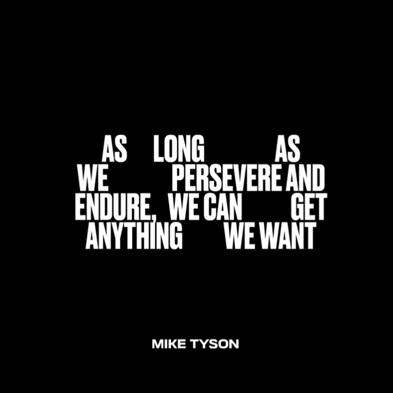 Only the persistent ones endure the journey to success #miketyson https://t.co/NjgtTRdNmd