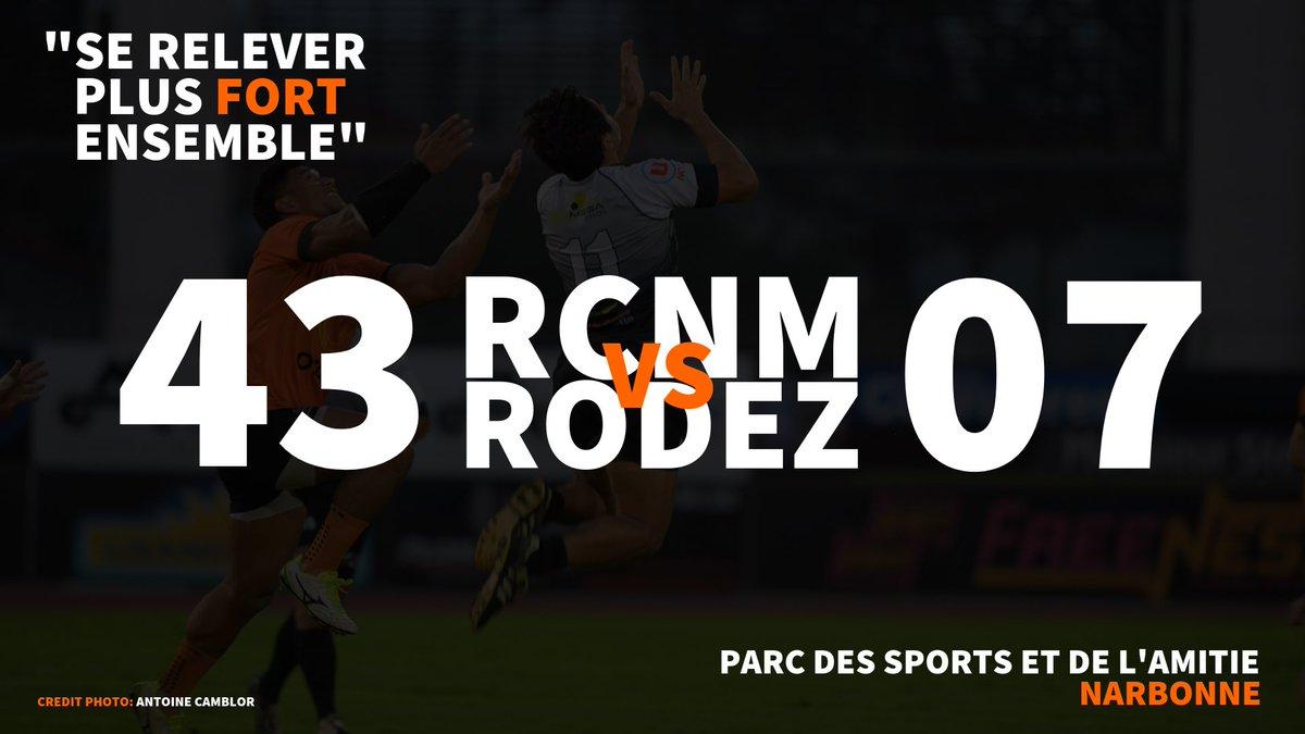 #RCNMSRA    Victoire du RCNM sur le score de 43-07 !!! https://t.co/r5T571YULm