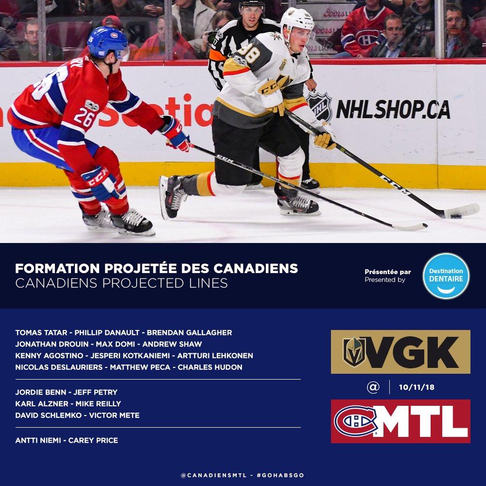game des canadiens ce soir
