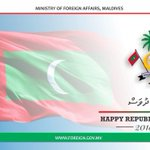 RT @MDVForeign: Warm greetings and felicitations on the occasion of Republic Day! https://t.co/K9PNAYUpPB
