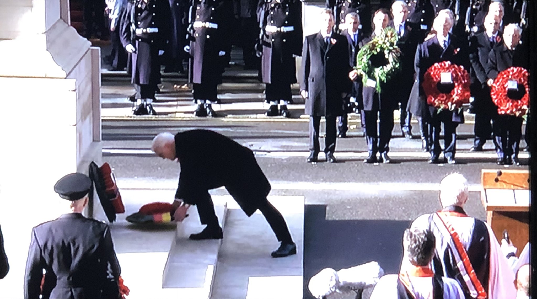 Frank-Walter Steinmeier, Germany's president lays a wreath at the Cenotaph which is very fitting. It is a shame though that in discussions about WW1 in the UK only the Western Front is remembered. Salonika, Middle East, East Africa all forgotten. Gallipoli is the only exception. https://t.co/PBPgDa0Pug