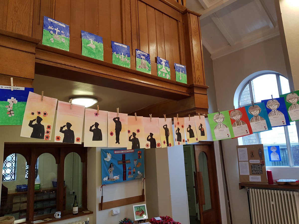 test Twitter Media - All of our artwork in Immanuel Church - alongside the hard work of members of the church congregation. It set the scene for a moving Remembrance service this morning. We will remember them. https://t.co/Pbdj0P1jyG