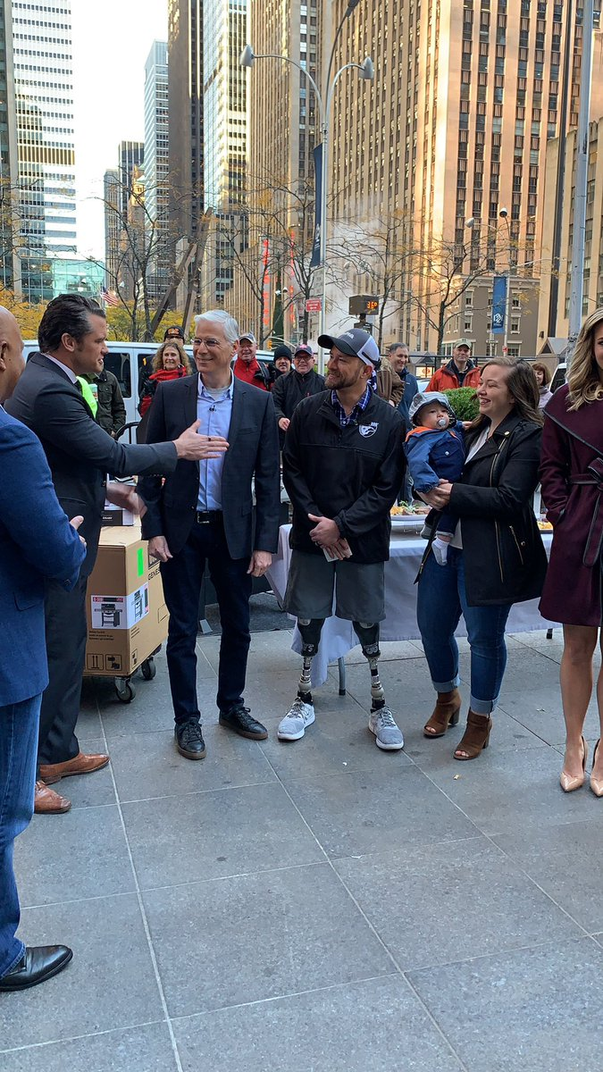 The moment we shared this wonderful gift with Scott West @foxandfriends #betterwithfriends  #nyc