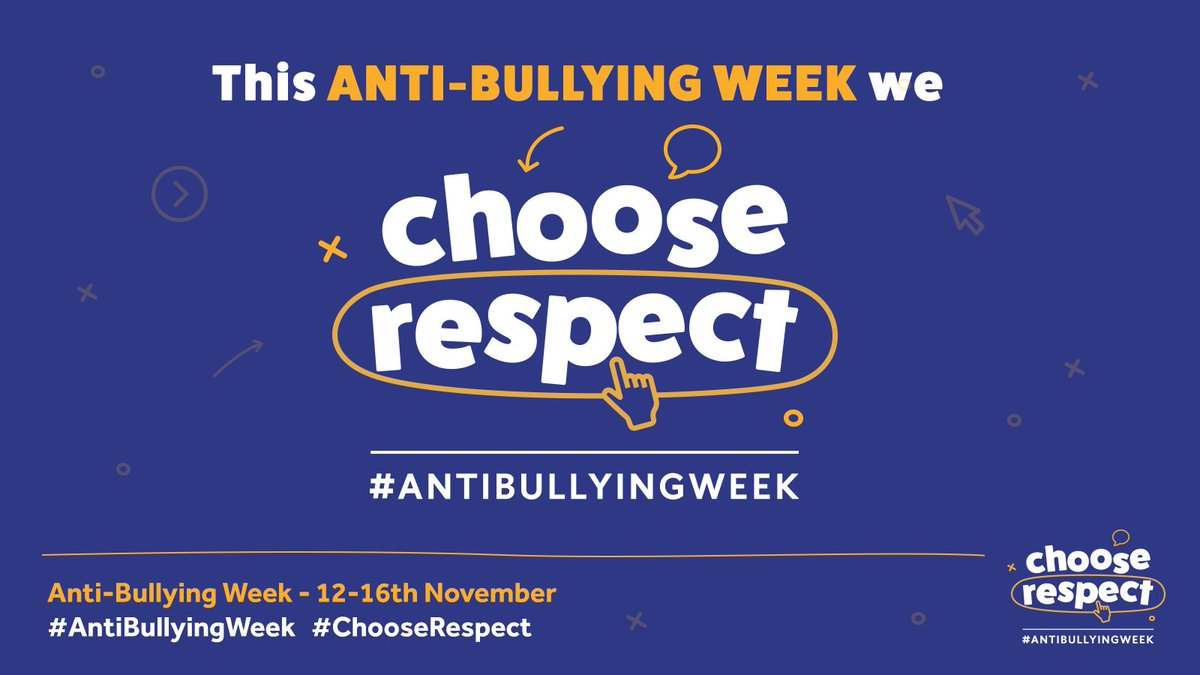 RT @ABAonline: Welcome to #AntiBullyingWeek 2018! 😃 We pledge to always #ChooseRespect - Will you? RT if you agree. https://t.co/tnQAu7Vc7H
