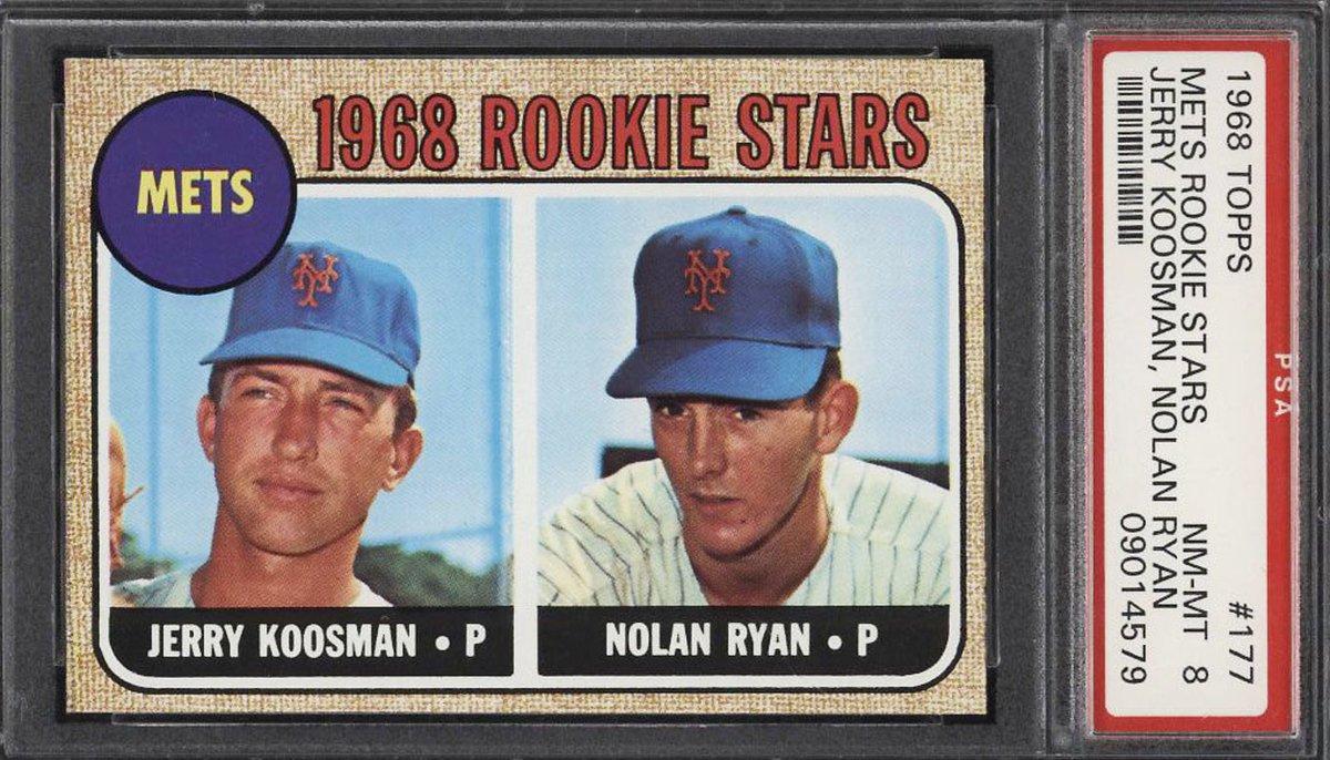 1968 Topps Nolan Ryan ROOKIE RC #177 PSA 8 NM-MT! Bidding ends today at 10:49 pm ET! https://t.co/48soPOKFEU https://t.co/vy9VFV4FSa