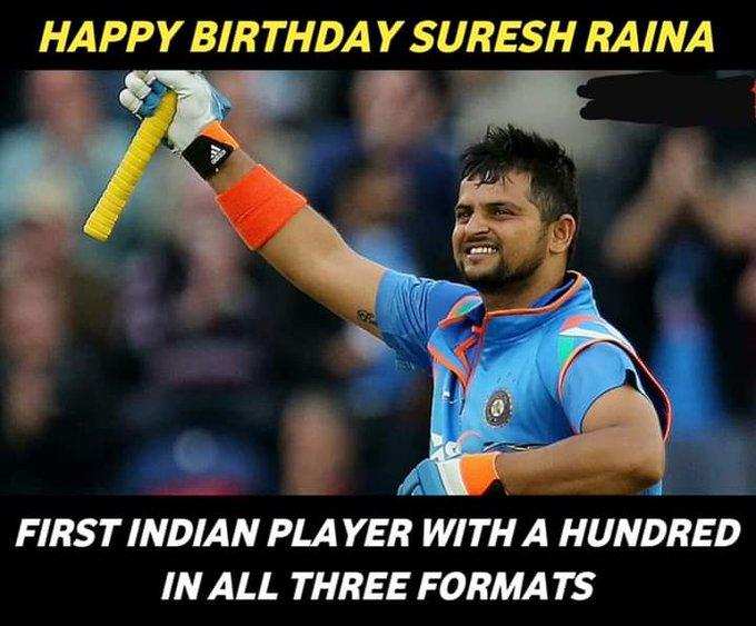 Sir happy birthday wishes to suresh raina sir
