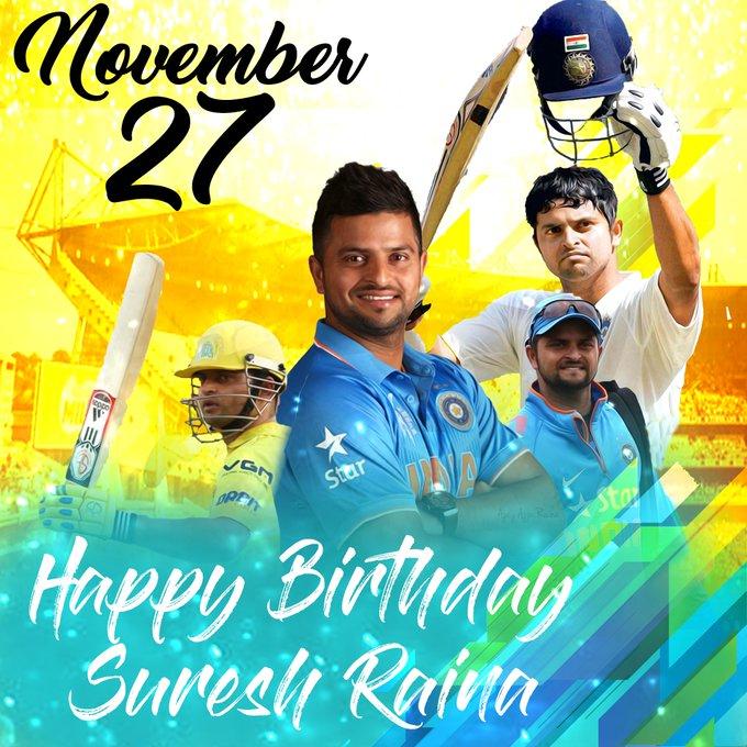 Wish you happy birthday Chinna Thala CSK team vice captain Suresh Raina bhaiya