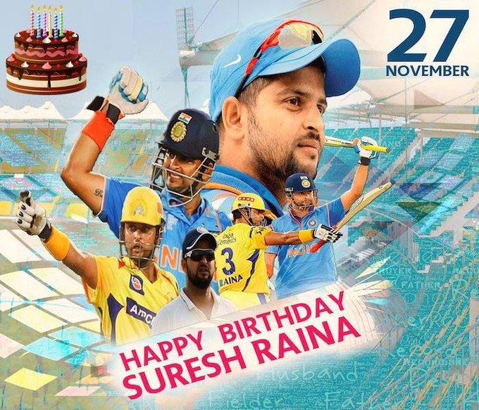 Happy Birthday, Suresh Raina