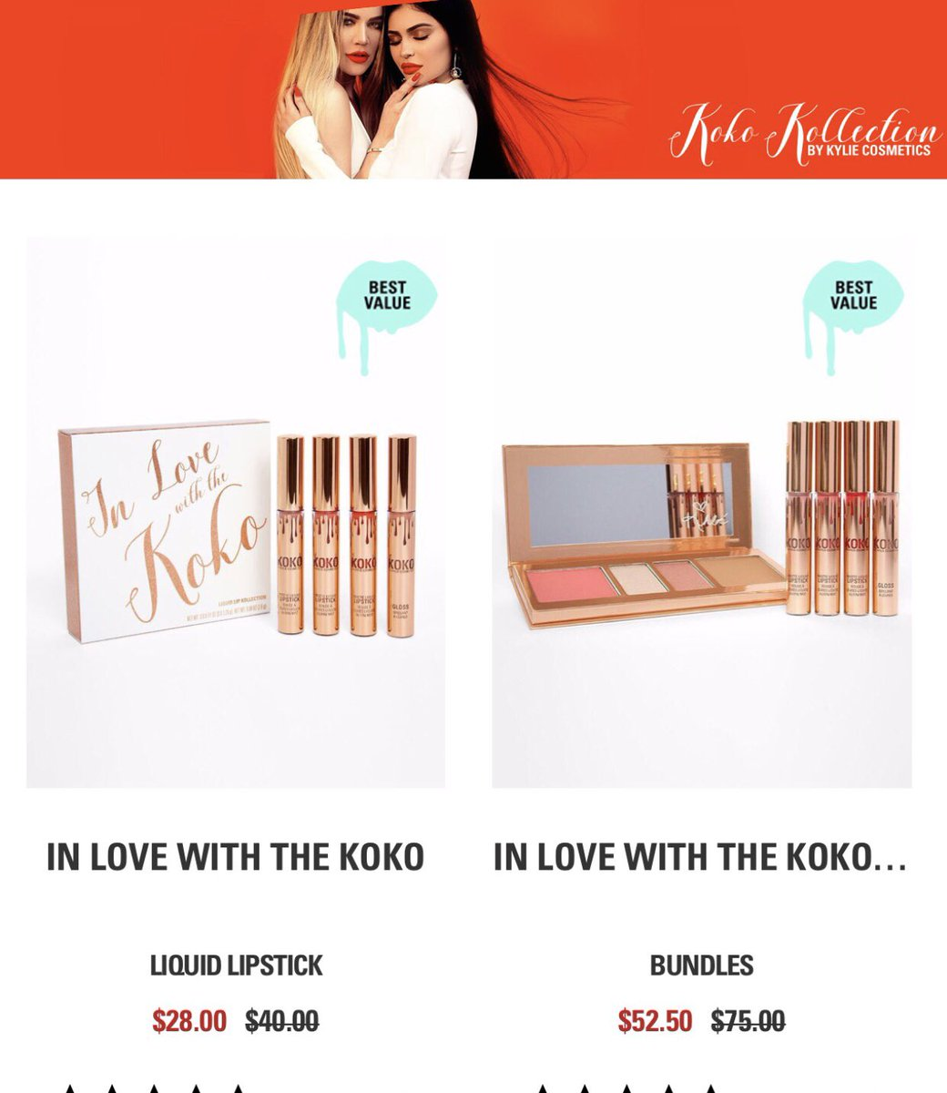 My Koko Kollection for @kyliecosmetics is on sale now!! 30% off in the #CyberMondal sale!! https://t.co/1CYPOujQXN https://t.co/WqU7R7N8pA