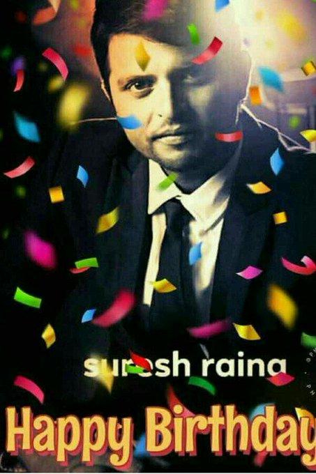 Happy birthday Suresh Raina