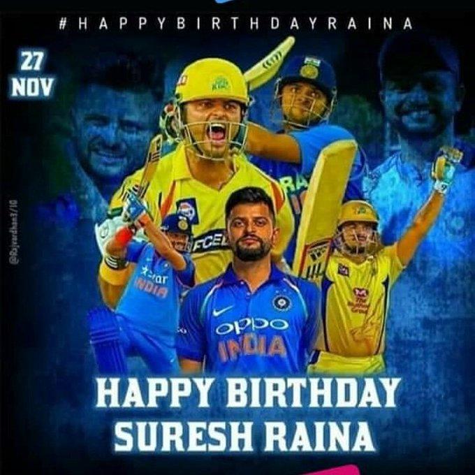 Happy birthday to u cinna thala     Suresh Raina sir