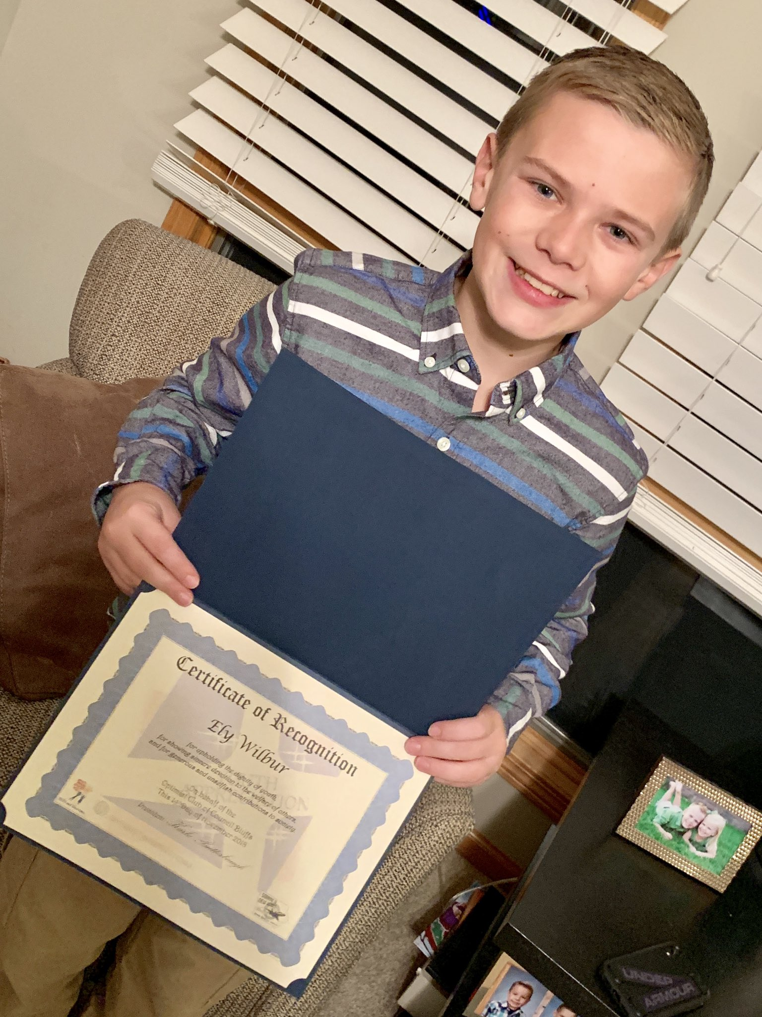 Ely was 1 of 5 boys in his class to get recognized by his teachers for the #youth #appreciation #award presented by the @OptimistClubs Iowa District Zone 5.  @LewisCentralCSD #ProudDad https://t.co/5vSxyySk5g