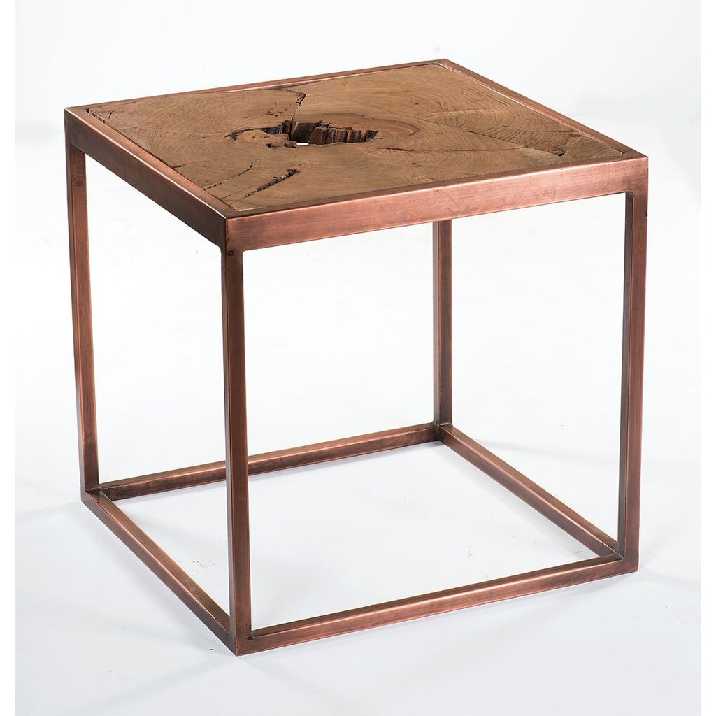 Taula Side Table with Copper Base | GFURN USD 265.00 https://t.co/rGnLA0zYzH https://t.co/r3iTRuhQT4