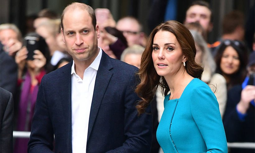 Duchess Kate turns heads in turquoise Emilia Wickstead dress at the BBC