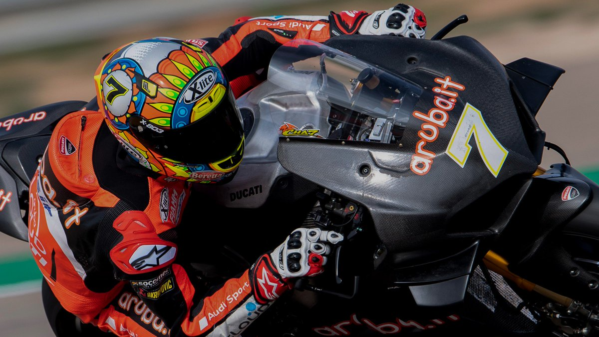 test Twitter Media - Ducati V4 R debuts in the wet at @AragonMotorLand  Limited track activity in Spain as weather hampers day 2 of action 💦  📰REPORT | #WorldSBK https://t.co/bWvBedodxl https://t.co/5thuLI8AlG