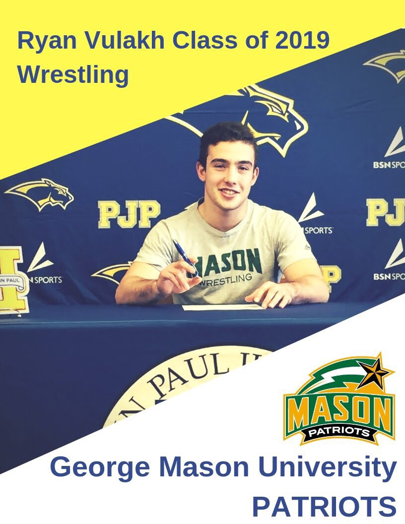 RT @PSPN_Official: Class of 2019 College Signing: Ryan Vulakh signs with George Mason University for Wrestling! https://t.co/FZ3AXDNWRv