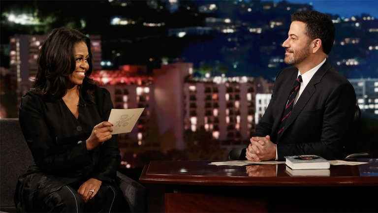 Watch Michelle Obama read jokes she couldn't say as first lady