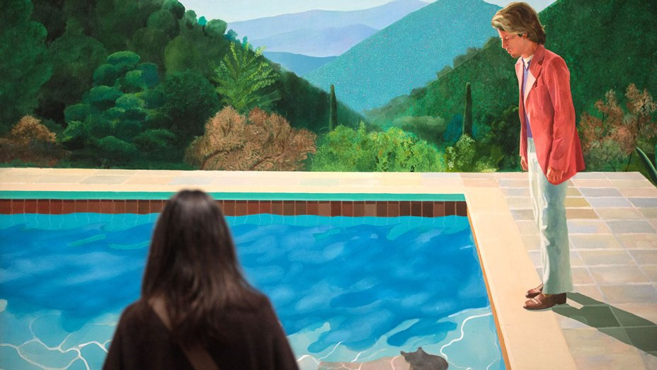 David Hockney painting fetches record $90M at NY auction