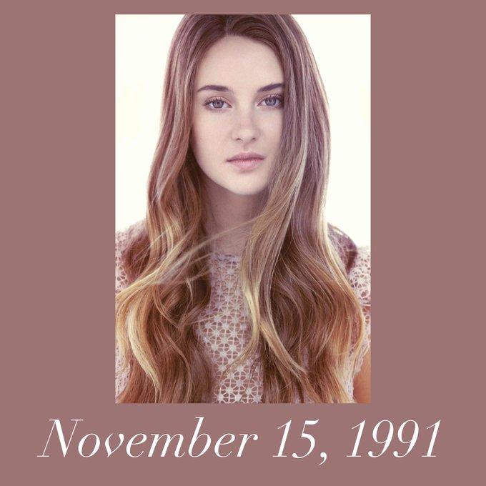 Happy Birthday to Shailene Woodley! She celebrated her 27th birthday today!