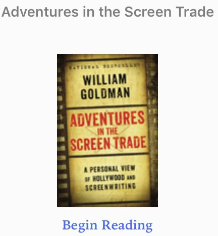 I literally started reading this book on my flight home yesterday. #rip William Goldman https://t.co/oAAoPXc5m7