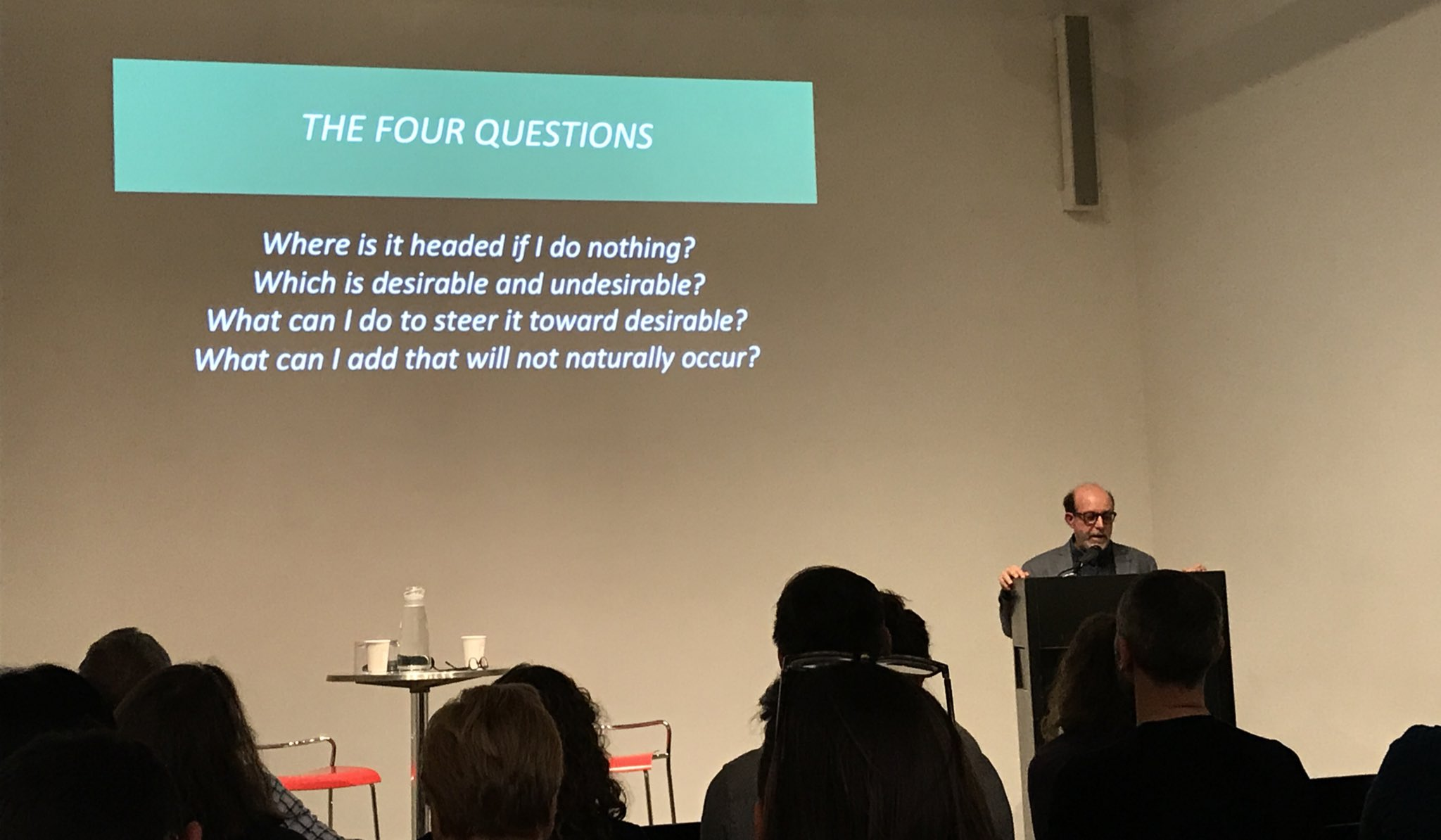Four questions to ask yourself when designing with plants - understanding the ecological processes can help determine management strategies- Larry Weaner @ASLA_NY #4ceusandbeer @CenterForArch @TreesNewYork @rethinktrees @maglinfurniture #aslanyc #landarch https://t.co/Dpnh2c4391