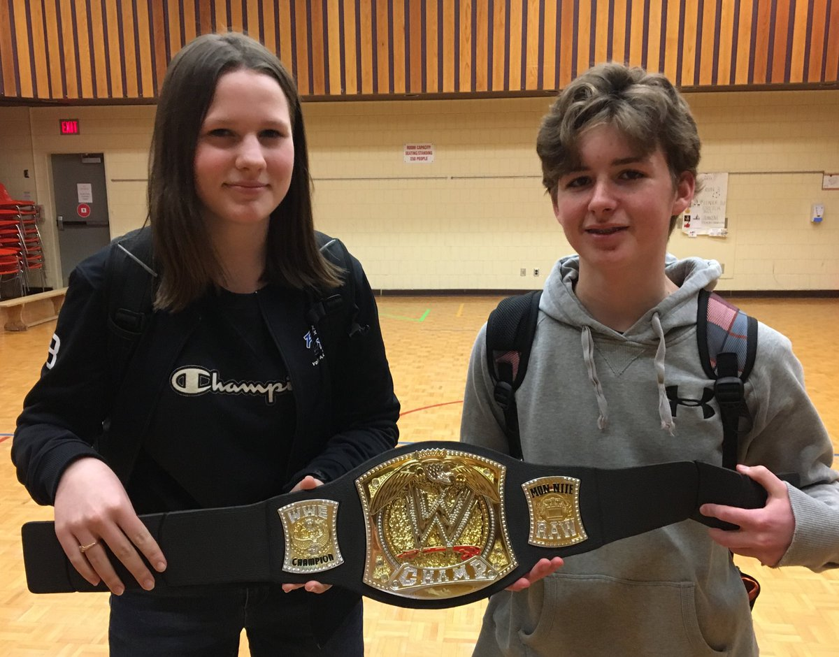 Today we recognized Jade and Kurtis (Wow Belt) and Corwin and Maddison (Grit Award) for all their efforts this week! https://t.co/LU7G2olqPG