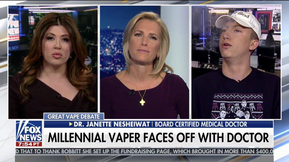 WATCH: Barstool Sports' 'Tommy Smokes' trolls Laura Ingraham, FOX News vaping debate
