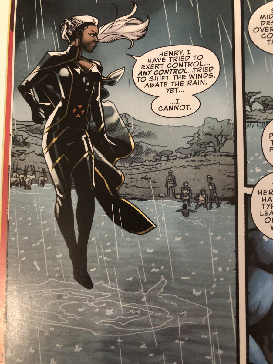 But .....if she can't Shift The Winds, how is she able to fly? That's literally how she takes flight? #uncannyxmen https://t.co/Loz0lmG8XW