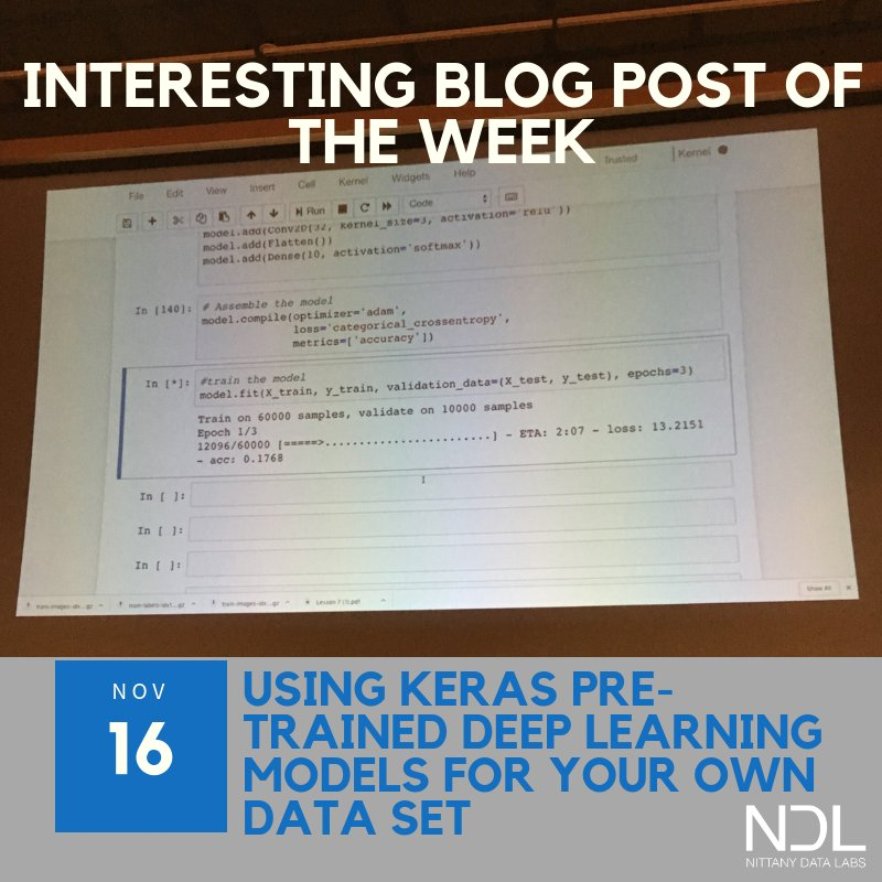 test Twitter Media - As we begin our break at PSU, the Interesting Blog Post of the Week ends its hiatus. This post goes deeper into Keras, which we touched on last Sunday with Andrew. Let us know what you think!  https://t.co/3hVesq4wJI  #PennState #DataScience #DeepLearning #poweredbydata https://t.co/7qRyczws07