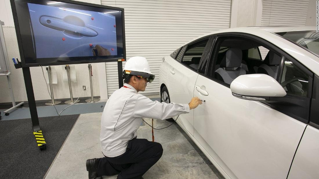 Toyota is using Microsoft's HoloLens augmented-reality headset to build cars faster