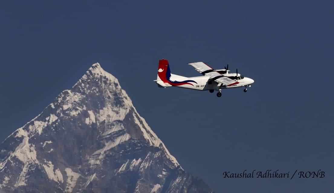 RT @RONBupdates: Amazing Shot : Nepal Airlines flying above the Mt. Machhapuchhre ♥️😮  pic. Kaushal Adhikari https://t.co/9UlsJC5myn