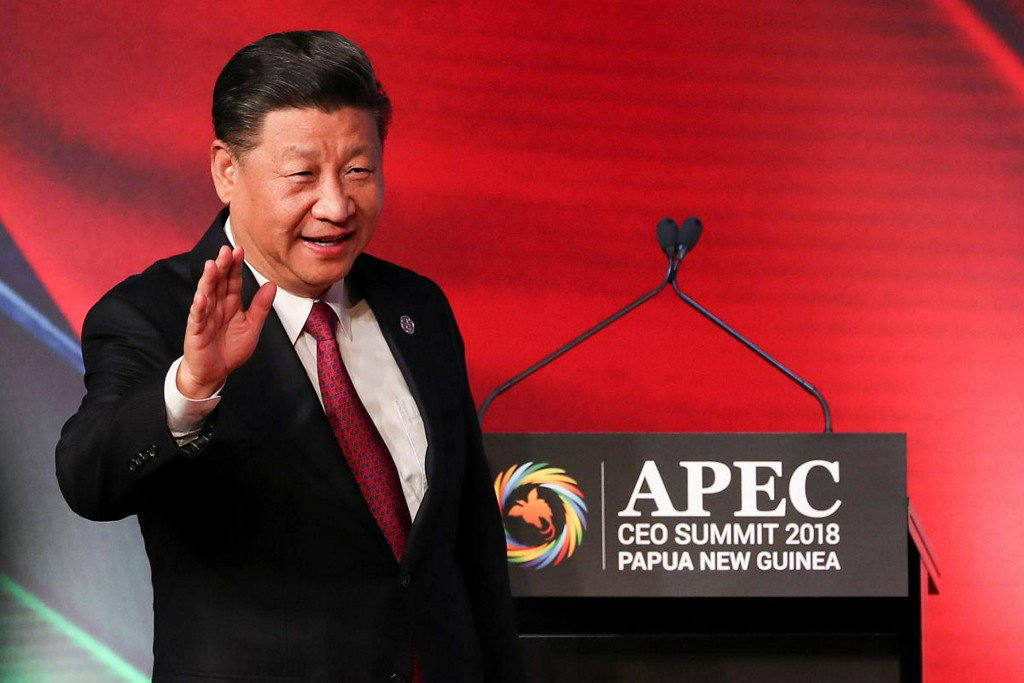 China's Xi says world growth overshadowed by protectionism