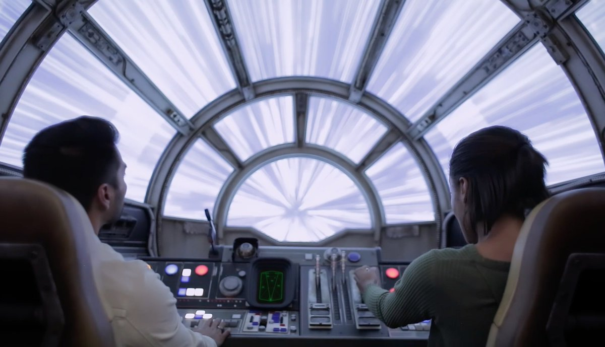 Watch an exclusive clip of the Millennium Falcon ride at Disney's StarWars theme park
