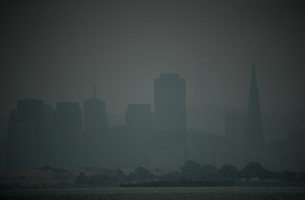 "San Francisco, Bay Area air quality update, forecast: Air still ""unhealthy"" due to wildfires"
