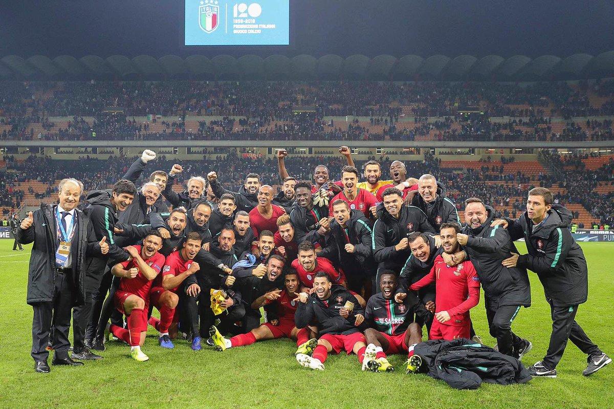 Estamos na final four! Jogo difícil mas grande trabalho de todos! 🇵🇹😄 @selecaoportugal https://t.co/osCvjleQjd
