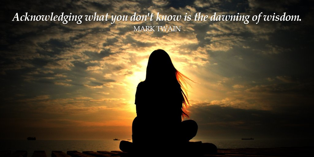 Acknowledging what you don't know is the dawning of wisdom. - Charlie Munger #quote https://t.co/FmyFettp7D
