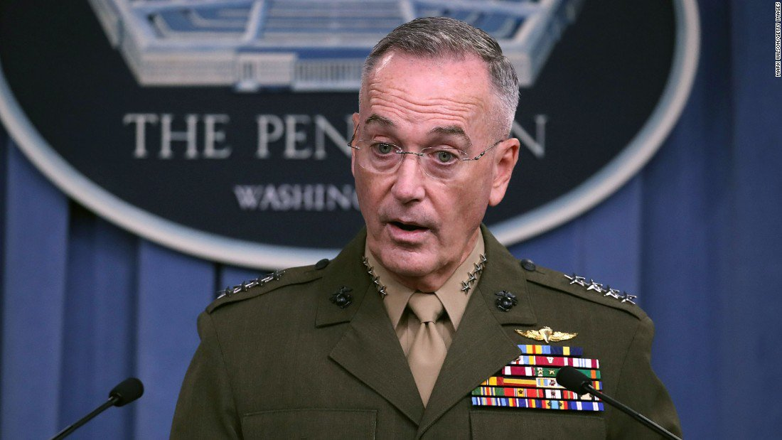 "Top US military officer says Taliban ""are not losing"""