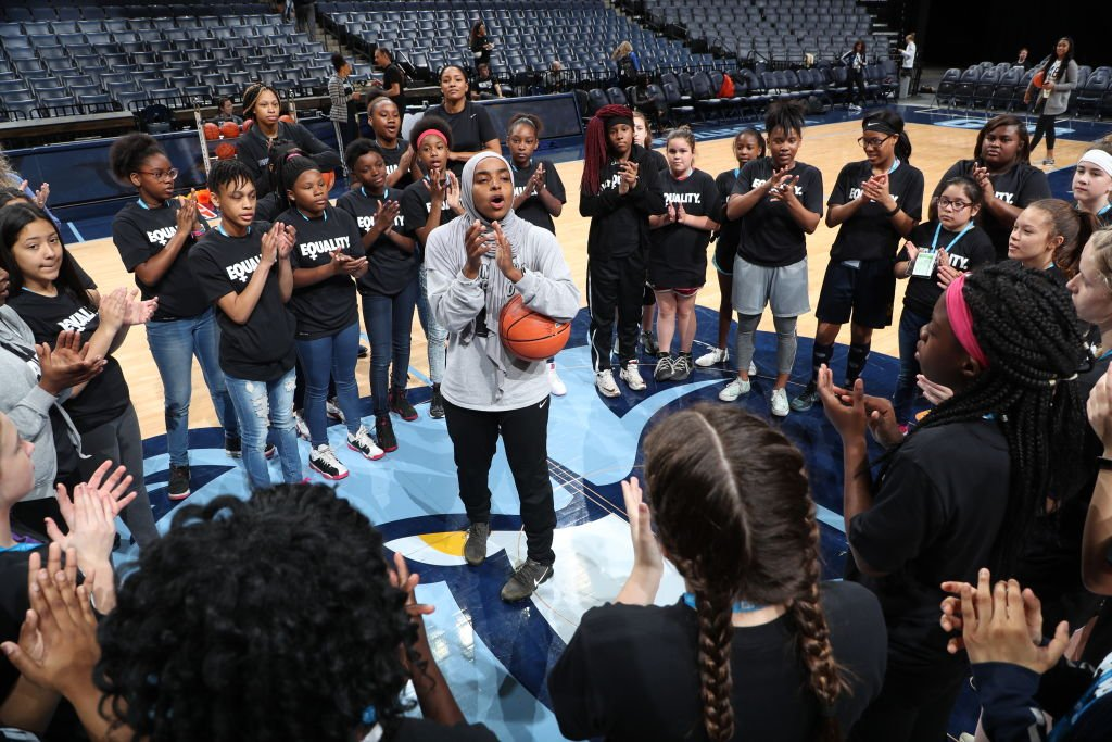 test Twitter Media - In 2015, @Bilqis_AbdulQ earned a master's degree from Indiana State and started her own campaign, Muslim Girls Hoop Too, which encourages Muslim girls to play #sports and openly express their faith. https://t.co/K7JMzjwZdf