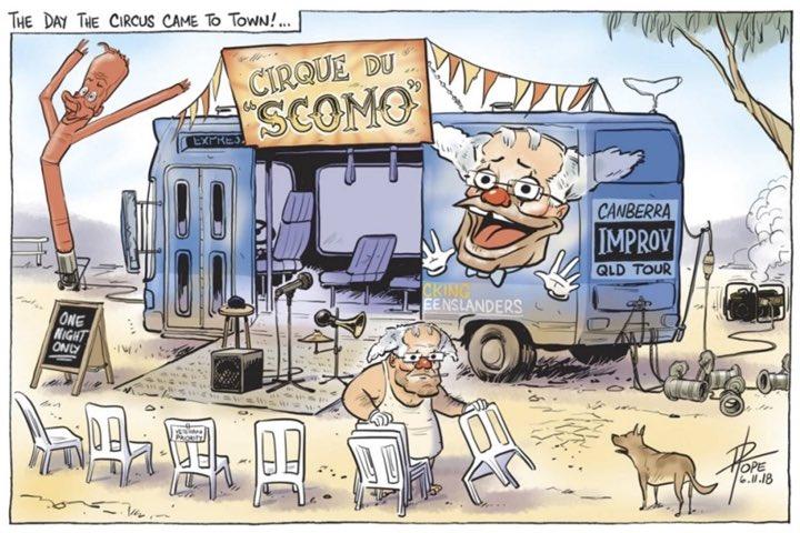 The best portrayal of the Morrison government yet. Cirque du Scomo. #auspol @davpope https://t.co/eWrxTdRPAp