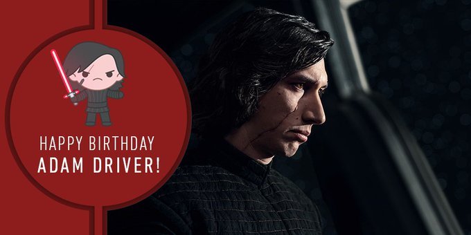 Let nothing stand in the way of you wishing a happy birthday to Adam Driver! Star Wars (
