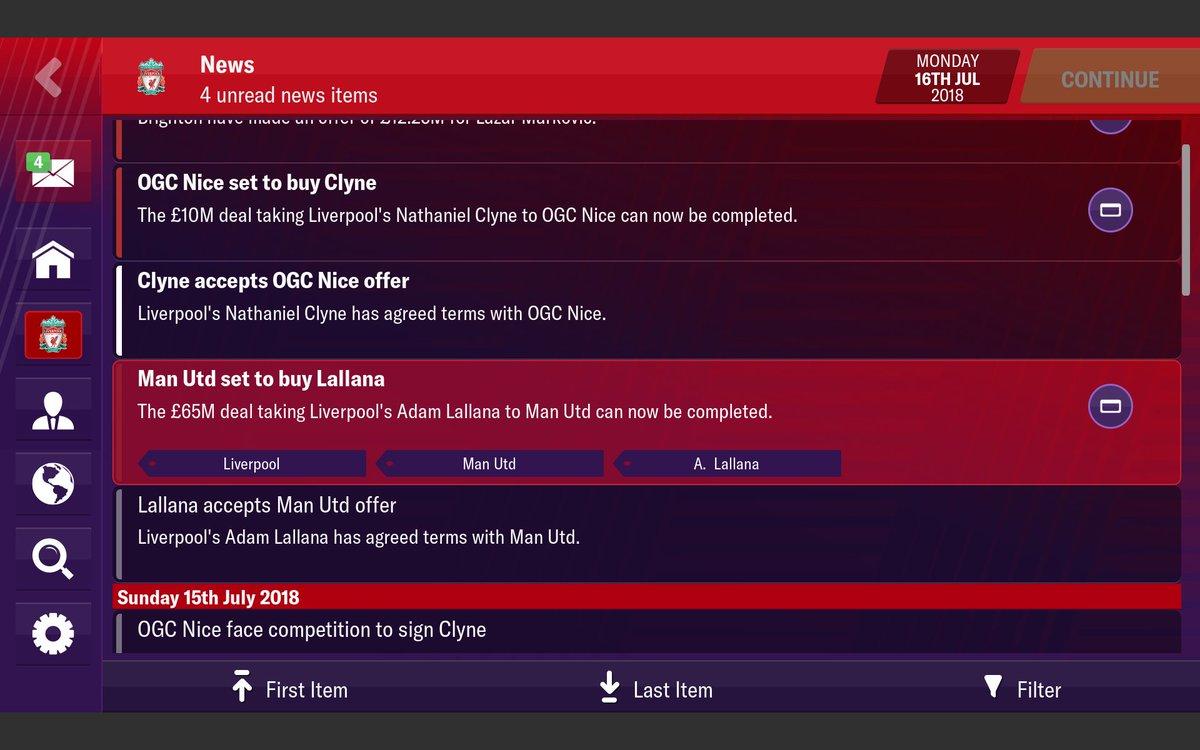£65m for Lallana to United 😂😂😂😂😂 #FMM19 https://t.co/Cpf9FIwMQC