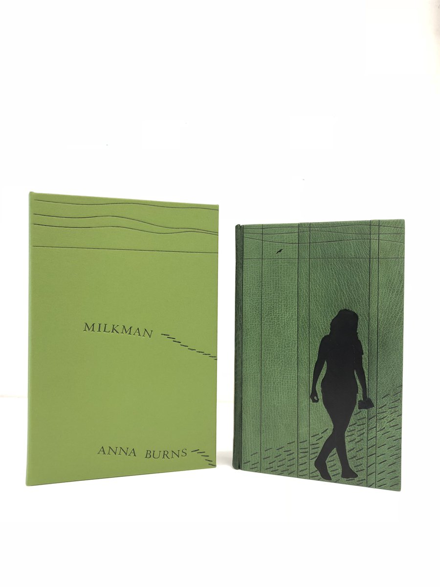 RT @FaberBooks: Beautiful edition of Milkman for Anna Burns from the @ManBookerPrize, bound by @DesignerbookUK https://t.co/42hWGCKdNB