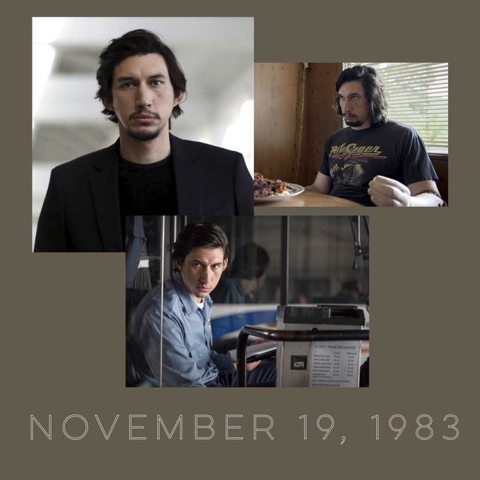 Happy Birthday to Adam Driver! Thanks for giving us Kylo Ren, and Adam from girls.