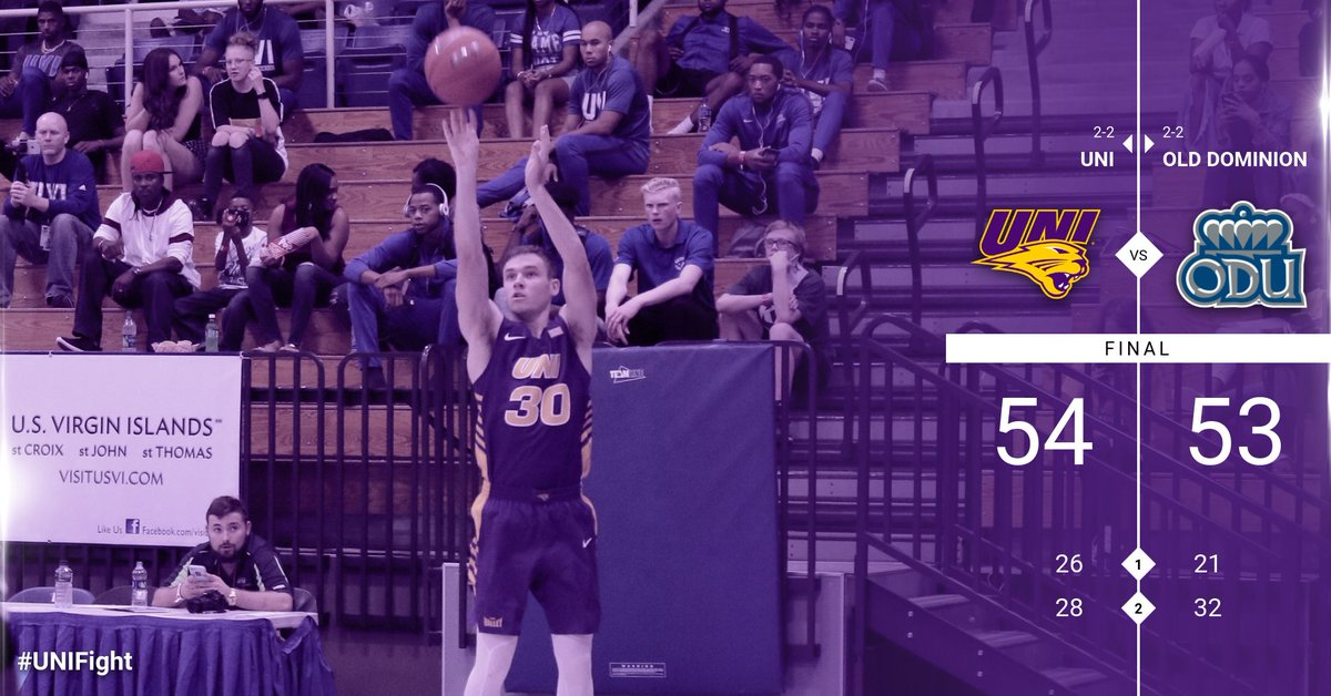 RT @UNImbb: #UNIFight get the one point win over Old Dominion. Panthers now 3-2 on the season. https://t.co/cd9EIQb2xX