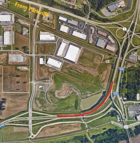 test Twitter Media - Notice to @parkvillemo commuters: @MoDOT_KC is extending its wall and deck repairs along SB I-635 before Horizons Parkway through 5pm tomorrow (11/20). If needed, a single-lane closure is possible until Wednesday (11/21). https://t.co/JcR0u6LIKx