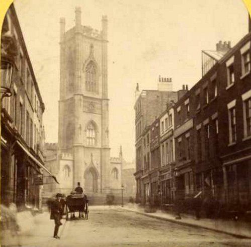 RT @inmylivpoolhome: Looking up Bold Street towards St. Lukes Church 1850 https://t.co/SonuyX8IM3