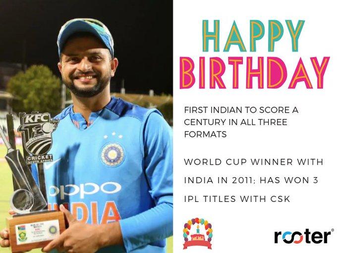 Happy birthday, Suresh Raina!