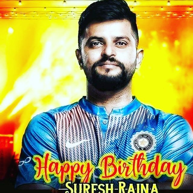A great happy birthday to my favourite Suresh Raina,... Wish u a great birthday & a full of happiness...